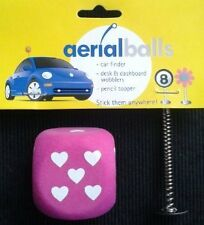 LOVE DICE AERIAL BALL ANTENNA TOPPER +Spring Wobbler