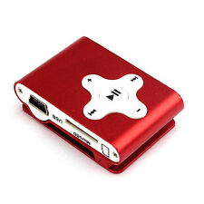 Mini Clip Metal USB MP3 Player Support Micro SD TF Card Music Media Christmas