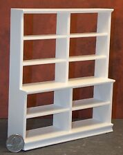 Dollhouse Miniature Large Shelf Unit White Store Shop 1:12  one inch scale   E13