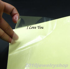 20pcs A4 Clear Transparent Film Adhesive Paper Sticker Paper Fit Laser Printer