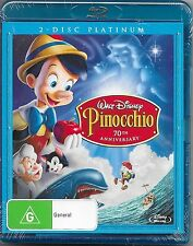 Pinocchio : Platinum Edition Blu Ray 2-Disc New & Sealed Region B Free Post