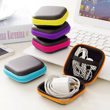 NEW Earphone Headphone Headset USB SD Card Case Box Zipper Storage Bag Pouch