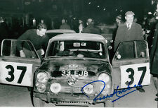 Paddy Hopkirk Hand Signed Mini Cooper Photo 12x8 8.