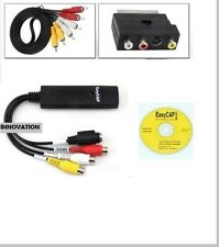 USB VHS DVD CONVERTITORE / CONVERTITORE VIDEO / Capture PORTA Completa + Scart KIT