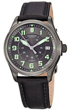 Victorinox Swiss Army Men's Infantry Automatic Black Leather Watch 241518