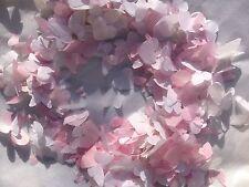 Rosa & Blanco Mariposa Y Corazón Boda Confeti Biodegradable Hecho A Mano X 1200 Pcs