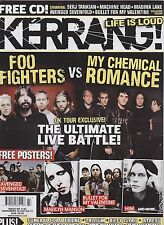 #1186 KERRANG vintage import music magazine -FOO FIGHTERS VS MY CHEMICAL ROMANCE