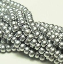 Metallic Bright Silver Czech 11/0 Glass Seed Beads 1 (6 String Hank) Preciosa