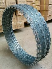 10M/65M Galvanised Barbed Razor Wire Steel Fence Security Coiled Concertina
