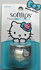 HELLO KITTY Softlips Cube CUPCAKE Lip Balm SPF 15 New On Card .23oz.