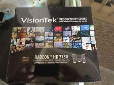 Radeon HD 7750 1GB 4x DVI-D + 1x MiniDP - Supports up to 5 monitors - Brand New!