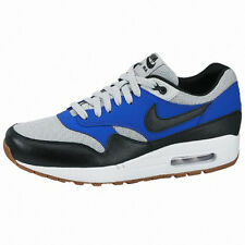 Nike Air Max 1 Essential SZ 9.5 Grey Mist Black-Lyon Blue 537383-022