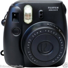 FujiFilm Instax Mini 8 Instant Film Camera, Built-In Flash - BLACK, 1Yr Warranty