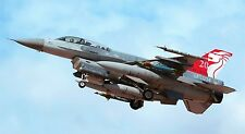 "F-16 FIGHTING FALCON MILITARY AIR FORCE JET 24""x 43"" LARGE HD WALL POSTER PRINT,"