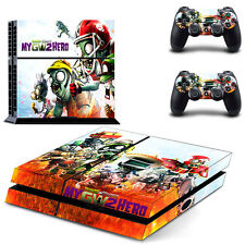Game Skin Plants Zombies GW2 Decals For Sony PS4 Console & 2 Controllers Sticker