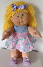 CABBAGE PATCH KIDS DOLL BLONDE GIRL VIOLET EYES PLAY ALONG CPK OUTFIT