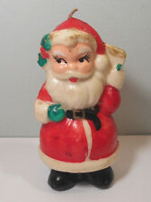 Santa Claus figurine CHRISTMAS CANDLE Holiday decoration unlit VINTAGE