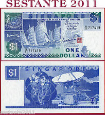 SINGAPORE  -   1 DOLLAR  nd 1987  -  P 18a  -  FDS / UNC