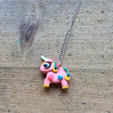 unicorn necklace Pony Mythical Handmade Pink Cute Birthday Christmas Gift