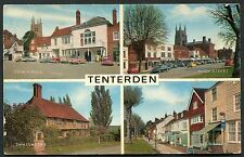 Posted 1972. Multiviews of Tenterden - Cars parked in High Street