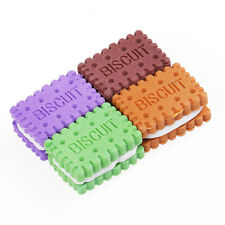 4pcs Cute Mini Biscuit Rubber Pencil Eraser For kid Children Stationery/Gift/Toy