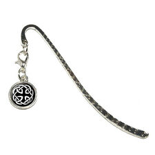 Celtic Knot - Metal Bookmark Page Marker with Charm