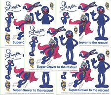 Sesame Street Super GROVER Scrapbook Stickers 5 Sheets!
