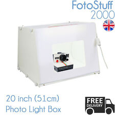 Professional Large 51cm PHOTO Studio Kit mk50 Scatola Luce Cubo Tenda UK STOCK