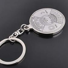 New Unique Metal Key Chain Ring 50 Years Perpetual Calendar Keyring Keychain DC