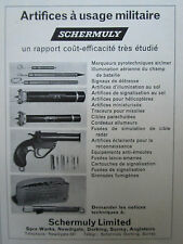 6/1970 PUB SCHERMULY ARTIFICES A USAGE MILITAIRE PYROTECHNIE FRENCH AD