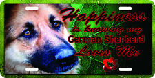 airbrushed aluminum i love my German Shepherd car tag  license plate
