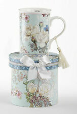 Delton Products-Porcelain Coffee or Tea Mug with Gift Box-Blue Camellia #8119-2
