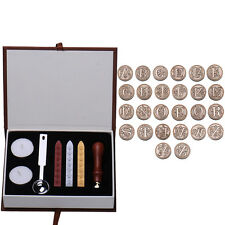 Sealing Wax Classic Initial Wax Seal Stamp Alphabet Letter 26 Retro Wood Random