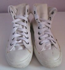 VTG Unisex Chuck Taylor CONVERSE White Canvas Hi Top Trainer/Shoe Size 4.5