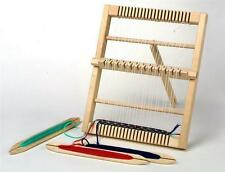 Traditional Wooden Medium Size Weaving Loom & Accessories Craft 32cm x 26cm 4701