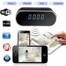 HD 1080P Wireless Wifi IP Spy Hidden Camera Motion Security Alarm Clock IR DVR