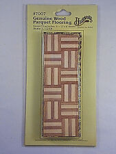 Vintage Houseworks Dollhouse Miniatures Genuine Wood Parquet Flooring #7007