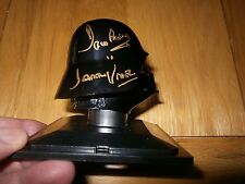 Darth Vader Helmet Star Wars hand signed Dave Prowse with full COA UACC AFTAL