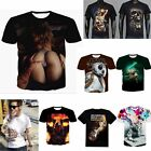 T-Shirts Crew Neck 3D printing Short Sleeve Casual Slim Fit Men's Tee Tops