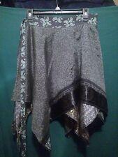 ~tav~ Recycled Silk Wrap Skirt ~ Gypsy Peasant Asymmetrical Boho Handkerchief 49