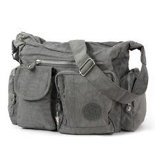 Bag Street bandolera nylon gris de moda bandolera crossover otj205k