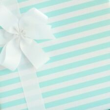 Candy Striped Wrapping Paper / Gift Wrap - Blue Taffy - by SmashCake & Co.