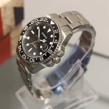 PARNIS GMT Automatic 41mm Date Stainless Steel Mens Watch