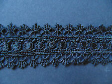 Black Galloon Venise Lace Trim 1 Metre    Sewing/Costume/Crafts/Corsetry