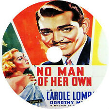 No Man of Her Own DVD Clark Gable Carole Lombard Dorothy Mackaill Rare1932