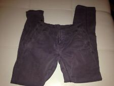 "Levi's 505 Women's Sz 25 Straight Leg Corduroys 32"" x 30"" Dark Purple 5-Pockets"
