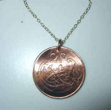Coin jewelry~Irish Celtic coin necklace-nicely domed!