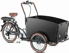 Electric Bakfiets E-Troy Cargo Family Bike 6 speed Shimano 4 seats bakfeetz New