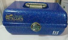 Caboodles Liquid Metallics Blue Glitter Makeup Case Travel Organizer #5622