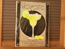 FABULOUS VINTAGE ART DECO STYLE METAL WALL SIGN PLAQUE *MARGARITA COCKTAIL*